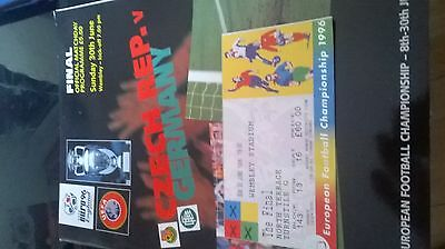 euro 96 final programme and ticket