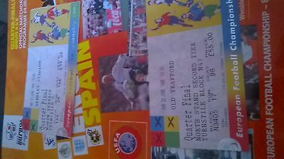 euro 96 quarter final programme and 2 tickets
