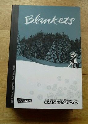 Blankets graphic novel by Craig Thompson new German edition