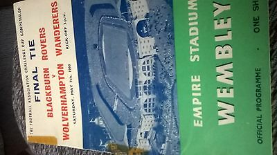 f a cup final programme 1960 Blackburnf a cup f v wolves