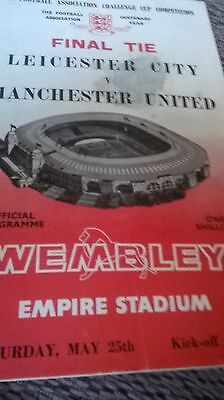 f a cup final programme 1963 Leicester v man utd