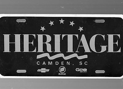 Heritage Chevrolet-Buick Dealership License Plate Car Tag-Camden, South Carolina