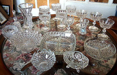 Lot/ Collection of Glass Items - Crystal / Cut / Pressed / Moulded Glass.