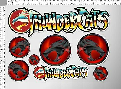 1 set thundercats emblems logo emblem decal sticker print die-cut out vinyl