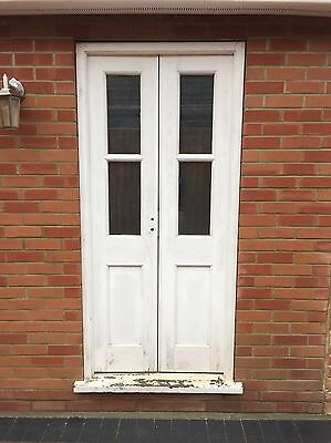 wooden french doors External With 2 Keys And Frame