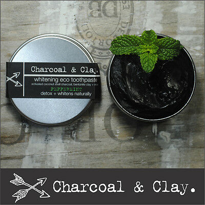 CHARCOAL TOOTHPASTE Natural whitening + DETOX 10 Flavours 45g