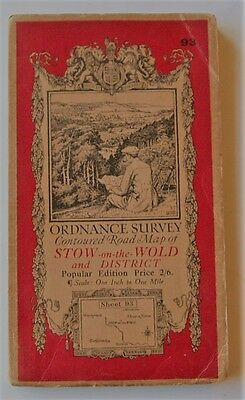 Ordnance Survey Map Of Stow-On-The-Wold & District.  1938.
