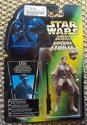 Star Wars Leia In Boushh Disguise  Power Of The Force Green Try Logo 1996 Moc