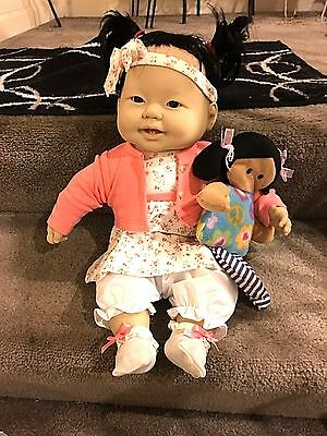 New 20 Inch Berenguer Asian-American Baby girl with shiny black hair