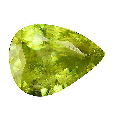 0.995 Cts Sublime Top Stunning Luster Green Yellow Natural Sphene Pear