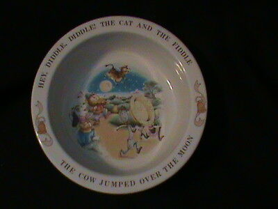 """Avon Child's Bowl 1984 Pottery """"Hey Diddle Diddle"""" EXCELLENT"""