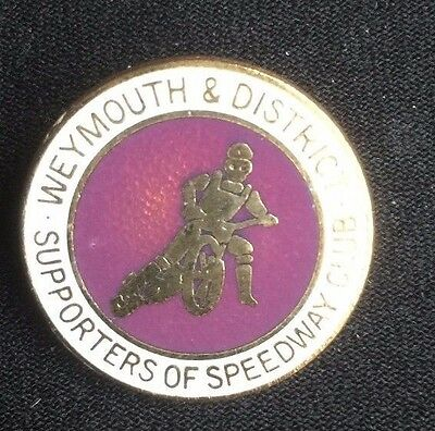 Speedway badge Weymouth and District supporters club