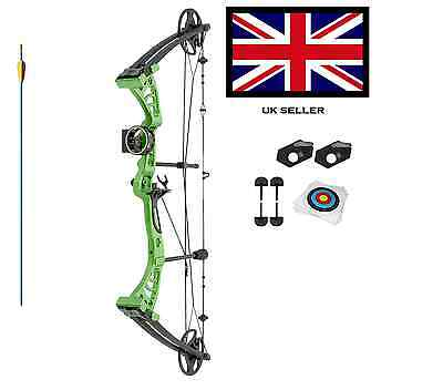 GREEN DRAGON ADULT COMPOUND ARCHERY BOW KIT 30-55lbs  WITH ACCS 1 ARR+ 10 TARGET