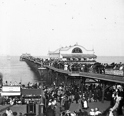 Photographic Glass Stereo Positive Slide Edwardian Cleethorpes 1900 Lincolnshire