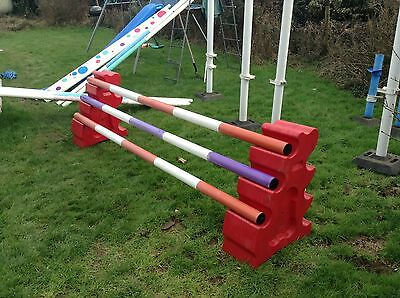 Poly Jump Show Jump Poles X3 (rrp New Over £95)