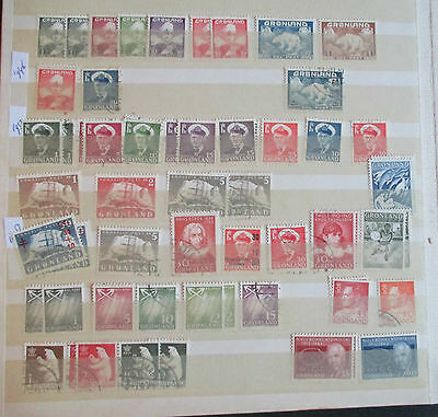 Greenland - Fine Mint/used Collection On Stocksheets - Early/modern