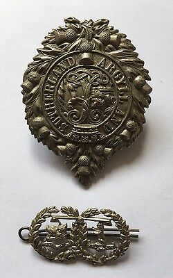 Vintage Argyll And Sutherland Badges WW1