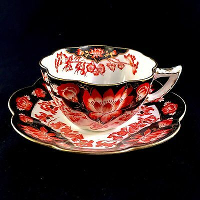 Wileman/Shelley Fairy shape cup and saucer, Japan print, 1910