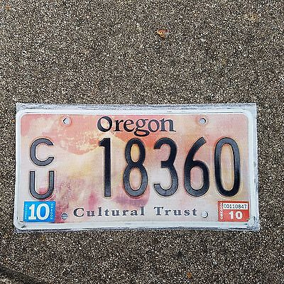 2010 Oregon Cultural Trust License Plate