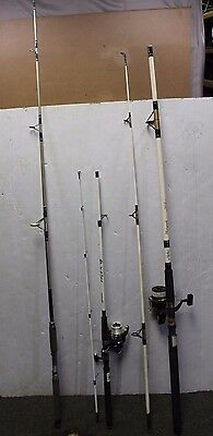 Lot of 3 Shakespeare Fishing Rods Alpha  & Tiger 2w/Reels