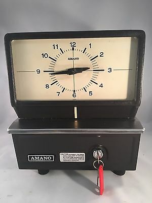 Vintage Amano Punch Time Recorder Clock Model 5307