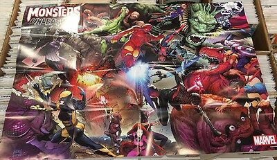 MONSTERS UNLEASHED - PROMOTIONAL FOLDED POSTER  - MARVEL Promo Comic Poster