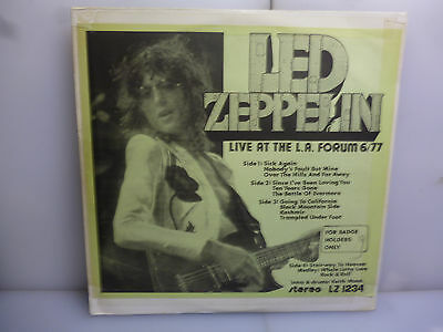 Led Zeppelin-Live At The L.a. Forum 6/77. L.a., Usa 1977.-French 2Lp Vinyl-Ex/ex
