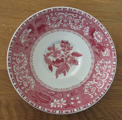 Copeland Spode Camilla red soup saucer and lid