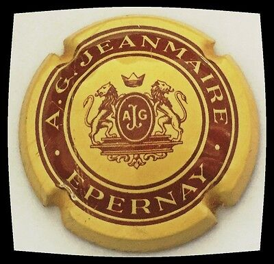 Capsule de champagne JEANMAIRE A.G. n°2 inscription Epernay cote 120€ Rare...!!