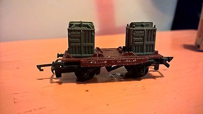 """Tri-ang TT Gauge """"Container wagon"""" with box"""