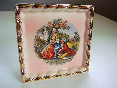 Vintage WALL POCKET French Romantic Courting Couple wallpocket porcelain PLANTER