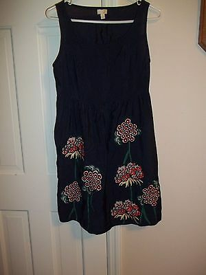 Ya Los Angeles Junior's Size L Sleeveless Dress Embroidered Short Sundress