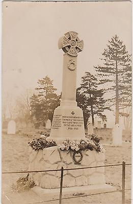 Rp War Memorial Forncett St Peters Long Stratton Diss Norfolk Real Photo C 1921