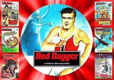 Red Dagger (1-30) + Other Pocket Library Books On Printed Dvd Rom