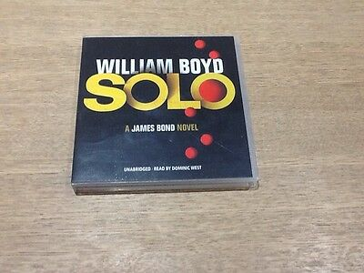 Solo By William Boyd - A James Bond Novel 6 Cd Audio Book 7 . 5 Hours - Vgc