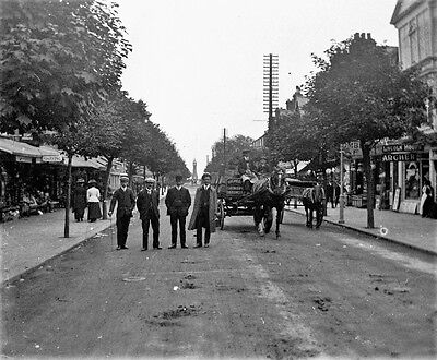 PHOTOGRAPHIC GLASS STEREO NEGATIVE SKEGNESS OR CLEETHORPES? c1905 EDWARDIAN