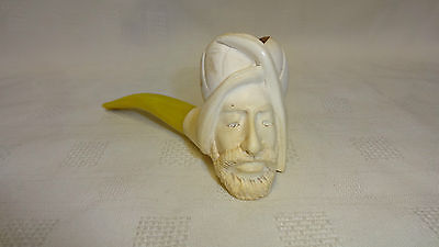 Vintage/Old Meerschaum Tobacco Smoking Pipe - Man With Beard & Turban