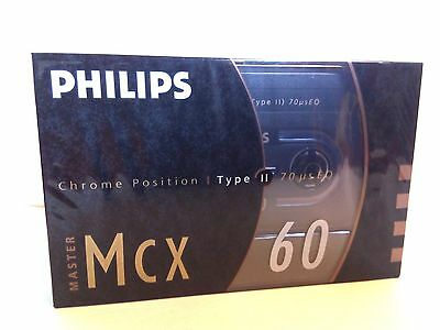 CASSETTE TAPE BLANK SEALED - 1x (one) PHILIPS MCX 60 [1990-93] (type II) RARE