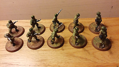 ( 10 ) Heroscape WWII Game Figures
