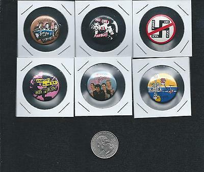 VTG Sex Pistols pin back buttons Lot of 6 Punk Rock Johnny Rotten Sid Vicious
