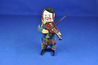 Schuco Solisto: Clown mit Geige / Clown w. Violin, 1930..., Uhrwerk / clockwork