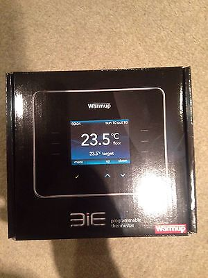 Warmup 3iE Programmable Thermostat Black