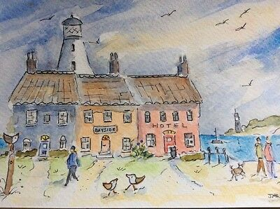"""Original Watercolour Painting ' The Lighthouse ' Series  7""""x 5"""""""