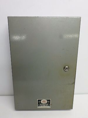 "Vintage ""TEL KEY"" METAL WALL MOUNT KEY CABINET w/Lock and Key - Holds 50 Keys"