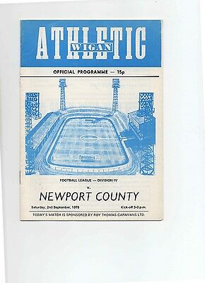 78/79 Wigan Athletic V Newport County (Division 4)(First)