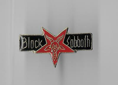 Vintage Black Sabbath Music Group Red Pentagram old enamel pin