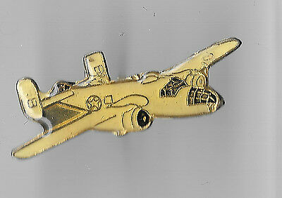 Vintage B-25 Mitchell Bomber Aircraft old enamel pin