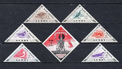 Lundy airmail set mounted mint,as per scan(2217)