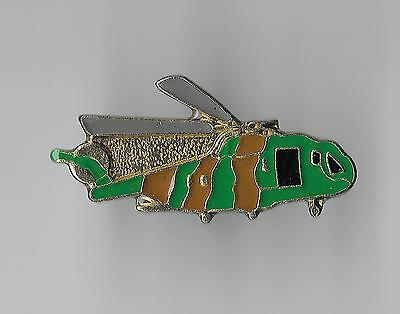 Vintage  Camoflage Helicopter Aircraft old enamel pin