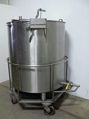 1500 Liter 400 Gallon Stainless Steel Jacketed Tank w/ Drain & Dual Lid